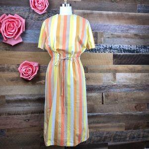 Dresses & Skirts - Vintage 1960s candy stripe dress